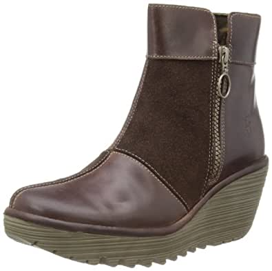Fly London Women's Yime Ankle Boot,Dark Brown/Expresso,42 EU/11 M US