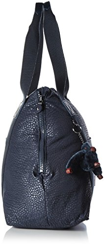 Kipling Art M Borsa da Viaggio Media, 58 cm, Blu (Dazz True Blue) Multicolore (Dot Dot Dot Emb)