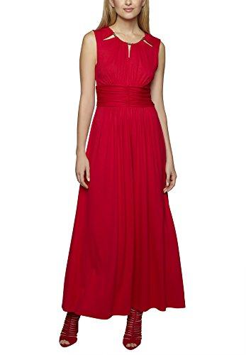 APART Fashion Damen Dekolletiertes Kleid 47323, Maxi, Einfarbig, Gr. 38, Rot