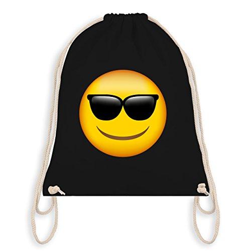 Comic Shirts - Emoji Sonnenbrille - Unisize - Schwarz - WM110 - Turnbeutel I Gym Bag