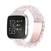 Compatibele band Fitbit Versa, Smart Watch Band Hars Horloge Vervangende Bandjes Polsbandjes Vrouwen Mannen voor Fitbit Versa/Versa Lite,D