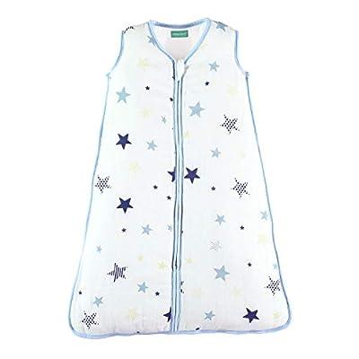 molis & co. Saco de Dormir para bebé de Muselina Premium Acolchado. Súper Suave y cálido. TOG 2.5. Ideal para Entretiempo e Invierno.