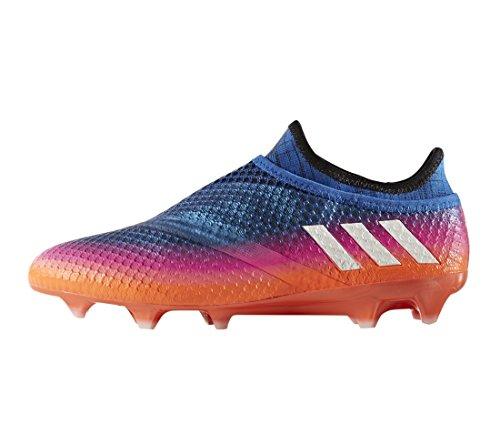 Messi 16+ Pure Agility FG - Crampons de Foot - Bleu/Blanc/Orange Solaire blue