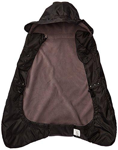 Ergobaby Wintercover und Regencover, isolierter Regenschutz für Babytragen mit  Fleece-Innenfutter, wasserdichte Hülle, schwarz