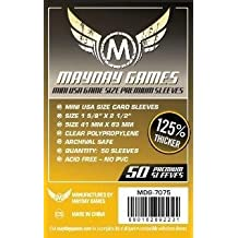 50 Premium Mini USA card sleeves (41x63mm) by Mayday Games