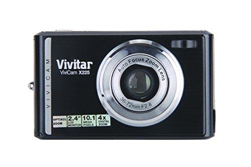 Vivitar X225 Fotocamera Compatta, 10.1 Megapixels, Zoom Ottico 2x, Zoom Digitale 4x, Display LCD da 2,4', Batteria Li-Ion, Nero