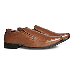 BATA Mens Hughes Tan Formal Shoes - 7 UK/India (41 EU)(8513100)