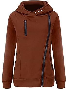 U-shot Ladies 'invierno manga larga sudadera con capucha sudadera con cremallera ropa
