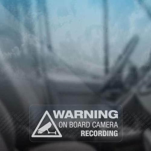 Pegatinas Para Coche Con Nombre Advertencia a bordo de la cámara de grabación de la ventana del coche camión auto pegatina decoración pegatinas de regalo para el coche portátil etiqueta de la ventana