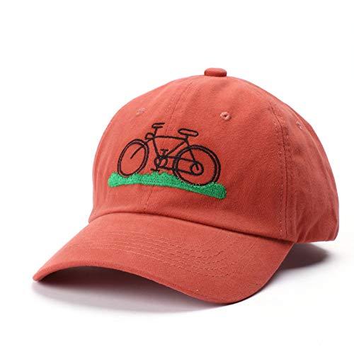 WBSNA Fahrrad-Stickerei-Mann-Frauen-Baseballmütze-Ball-Kappe,Orange (Damen Ball-kappe)