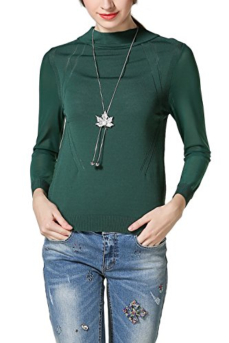 3/4 manches pull gilet basique Casual pull femmes green