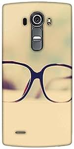 Snoogg Hipster Glasses Designer Protective Back Case Cover For LG G4