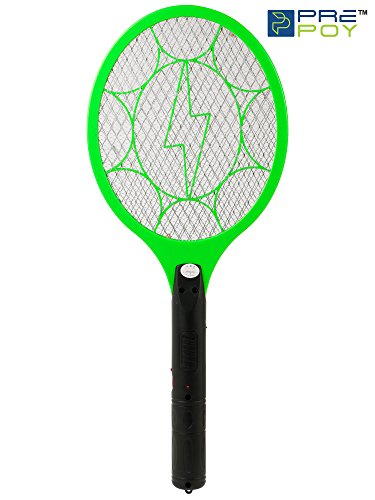 PREPOY Rechargeable Mosquito and Insect Killer Racket (Green)