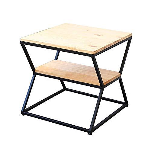YueQiSong Eisen Beistelltisch Schlanke Minimalistische Moderne Couchtisch Sofa Ecke Mehrere Kreative Kleine Tisch Seite Kabinett Beistelltisch Rack, 2-Tier -