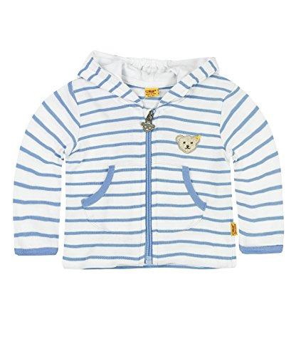Steiff Baby-Jungen Sweatshirt Sweatjacke 1/1 Arm, Blau (Milky Blue 3182), 86