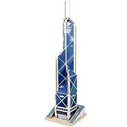 Creative Assemble Puzzle Toys Child Early Education Wooden 3 D Puzzle Building Bank Of China Tower