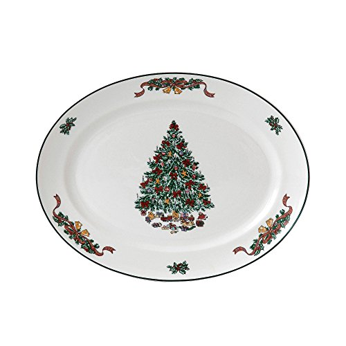 Johnson Brothers Victorian Christmas Oval Platter, 13.75-Inch, Multicolored by Johnson Brothers China Oval Vegetable Bowl