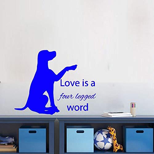 jiushizq Labrador Vinyl Wandaufkleber Liebe Ist Zitat Pet Shop Tapeten Lustige Kinderzimmer Dekor Wohnzimmer Art De 5 60 cm X 48 cm