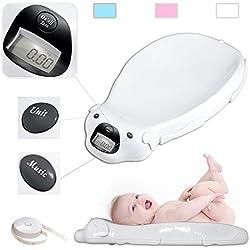 Todeco - Pèse Bébé, Balance Éléctrique pour Bébé - Dimensions: 65,4 x 33,2 x 11,6 cm - Charge maximale: 20 kg - Blanc
