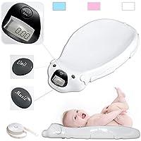 Babyfield Bianco bilancia Digitale Pesa Elettronica Bambino con l'opzione musicale LCD sottofondo e di memoria integrato