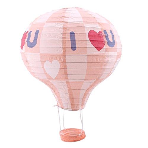 Laternen Dekorative hängende Heißluftballon Papierlaterne Hochzeit Geburtstag Party Dekorationen, Pulver Ich? u ()