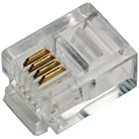 LogiLink RJ11 RJ11 Transparent wire connector - Wire Connectors (RJ11, Transparent, Gold, RoHS, 100 pc(s)) - Trova i prezzi più bassi su tvhomecinemaprezzi.eu