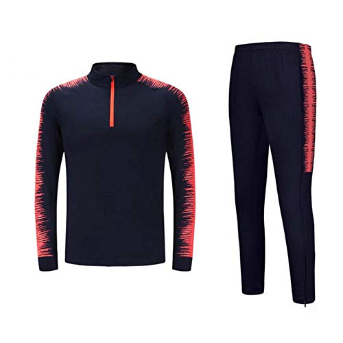 BulundFan Fußball Trikots Sets Survêtement Football Kit Futbol Laufjacken Erwachsene Männer Sporttraining Trainingsanzug Uniformen Anzug @ M