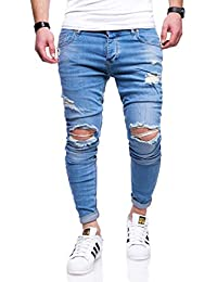 e704c66d0971 Rello   Reese Herren Jeans Destroyed Slim Fit Hose Chino Jeanshose RNJ-2763
