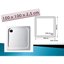 GB Duschwannen–Plato 100x 100cm Slimline rectangular blanco ducha/Ducha Taza ducha/bañera