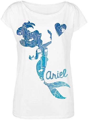 Arielle die Meerjungfrau Underwater T-Shirt weiß XL