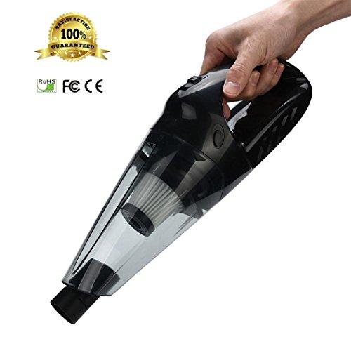 LCLrute Corded Car Vacuum DC 12V Car Vacuum Cleaner High Power Potable Handheld Cleaner Auto Staubsauger Kabellos Nass und Trocken Starker SOG (B)