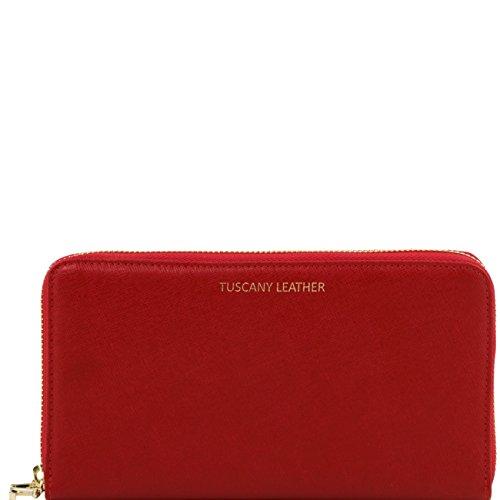 tuscany-leather-esclusivo-portafogli-portadocumenti-da-viaggio-donna-in-pelle-saffiano-rosso-accesso