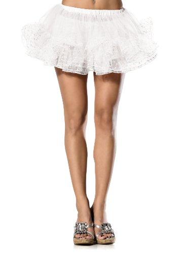 Sexy Leg Avenue Short Polkadot Petticoat, White, O/S Leg Avenue Coat