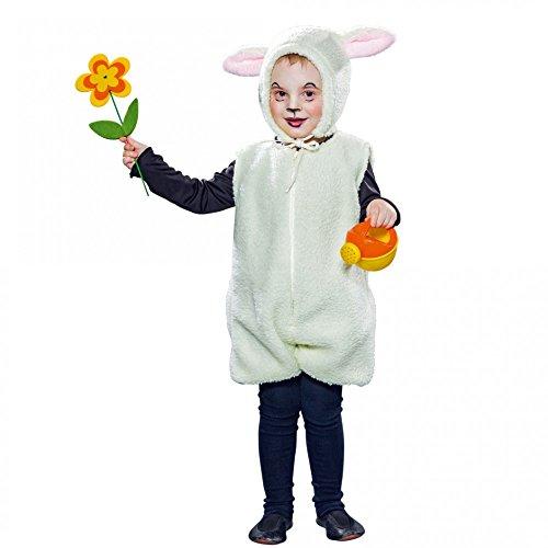 Schäfchen Kostüm - Kinderkostüm Schäfchen-Overall mit Mütze (92)