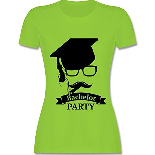 Abi & Abschluss - Bachelor Party Abschluss Studium - tailliertes Premium T-Shirt mit Rundhalsausschnitt für Damen Hellgrün