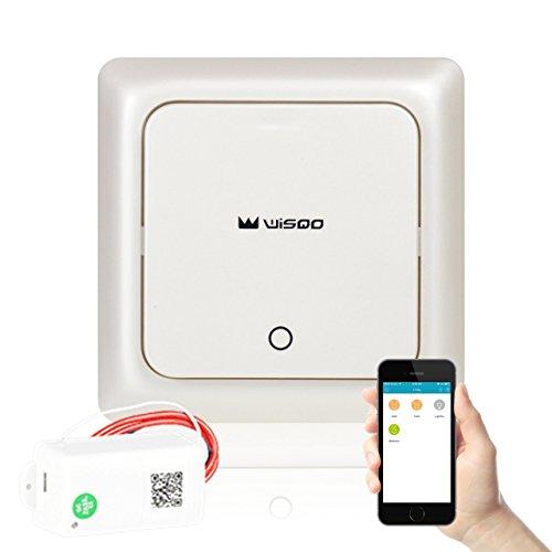 Preisvergleich Produktbild WisQo Smart Lichtschalter, Lichtschalter + Receiver, funktioniert mit Amazon Alexa