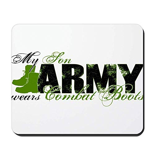 Son Combat Boots - Army - Non-Slip Rubber Mousepad, Gaming Mouse Pad