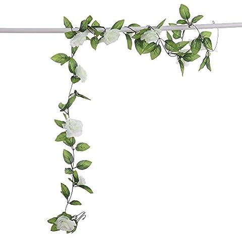 LianLe®250CM Lierre Artificiel Guirlande Feuille Vert Fleur Déco Maison Mariage