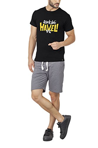 129abb175 Bewakoof Haveli (Black) Printed Half Sleeve Mens Round Neck T-Shirts