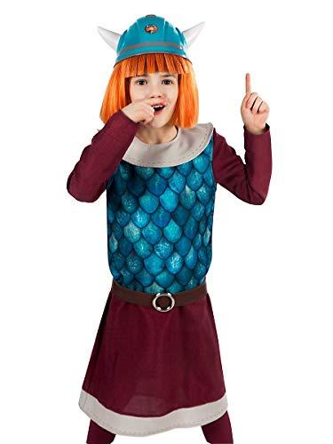 Maskworld Wickie der schlaue Wikinger-Junge - Kinder-Kostüm 4-teilig (110-116) (Wikinger Krieger Kinder Kostüm)