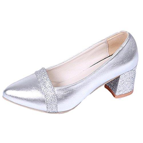 New Fashion Office Heels, Türkei Frauen Elegante Heels High Heel Spitz Schuhe Wildleder Arbeit Heels Casual Heels Hochzeit Heels, Absatz hoch 5,5cm, Hoof Heels (UK 2,5–5,5, EU 34–40) (Niedrigen Ferse Keil-flach)