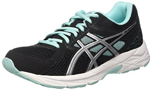 Asics Gel-Contend 3, Scarpe Running Donna, Nero (Black/Lightning/Aruba Blue), 39 EU
