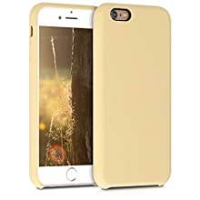 kwmobile TPU Silicone Case Compatible with Apple iPhone 6 / 6S - Soft Flexible Rubber Protective Cover - Light Yellow