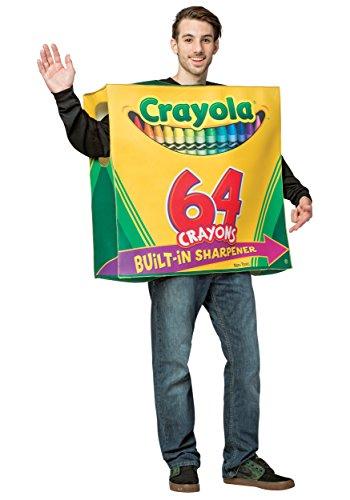 Crayola 64-Piece Crayon Box Adult Fancy dress costume Standard