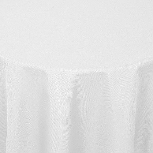 Tischdecke Damast DIANA mit Saum - Eckig Rund Oval - Farbe und Größe wählbar - Premium Qualität -   Oval 140x190 cm weiss  