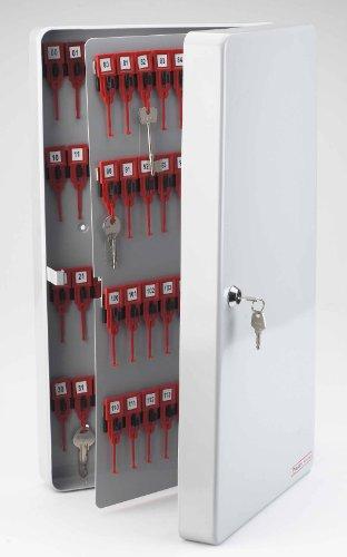Avery - Armadietto per 160 chiavi, in acciaio, colore: Grigio chiaro