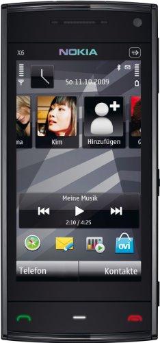 Nokia X6 Smartphone (8GB interner Speicher, Touchscreen) schwarz Nokia X6 Touch Screen