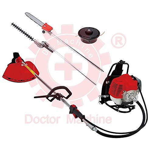 Doctor Machine Dm0006 - Desbrozadora multifunción 4 en 1 con Mochila 43 CC - 1,47 kW - Rotación...