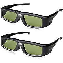 SainSonic Zodiac 904 Active - Pack de 2 gafas 3D para proyectores 3D Ready DLP, Acer, NEC, BenQ, eMachines, LG, Optoma y Vivitek (no compatibles con HD131Xe)