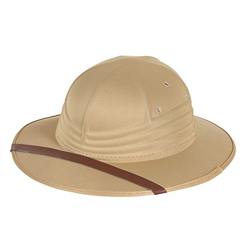1 Nylon Filz Safari Hat, Beige, ONE SIZE (Safari Themen Kostüm Ideen)